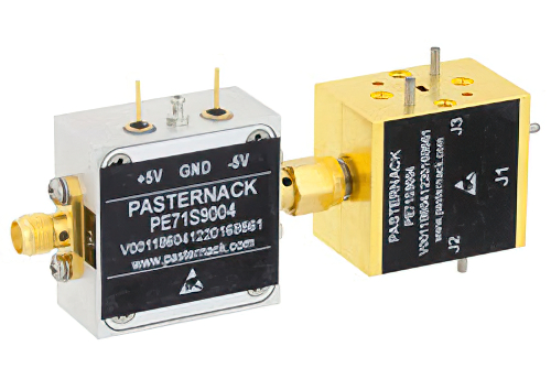 WR-10 PIN Diode SPDT Waveguide Switch Operating From 75 GHz to 110 GHz W Band With UG-387/U Flange