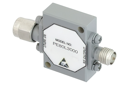 SMA High Power Limiter, 200 Watts Peak Power, 100 ns Recovery, 14 dBm Flat Leakage, 2 GHz to 18 GHz
