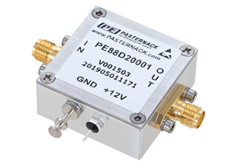 Frequency Divider, Divide by 20 Prescaler Module, 200 MHz to 6 GHz, SMA