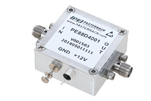Frequency Divider, Divide by 4 Prescaler Module, 500 MHz to 18 GHz, SMA