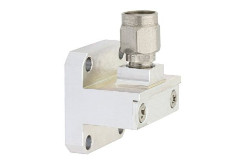 WR-42 UG-595/U Square Cover Flange to 2.92mm Male Waveguide to Coax Adapter Operating From 18 GHz to 26.5 GHz