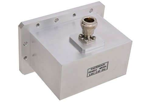 WR-284 CMR-284 Flange to N Female Waveguide to Coax Adapter Operating From 2.6 GHz to 3.95 GHz, S Band