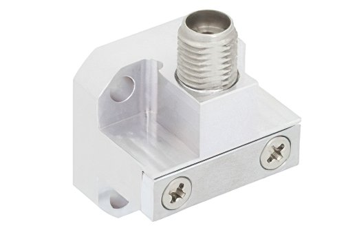 WR-28 Square Cover Flange to 2.92mm Female Waveguide to Coax Adapter Operating From 26.5 GHz to 40 GHz, Ka Band