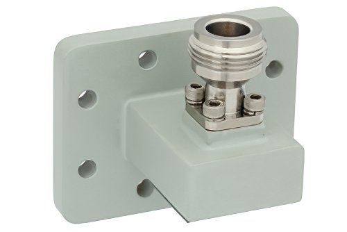 WR-90 UDR100 Flange to N Female Waveguide to Coax Adapter Operating From 8.2 GHz to 12.4 GHz