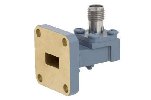 WR-34 UG-1530/U Square Cover Flange to 2.92mm Female Waveguide to Coax Adapter Operating From 22 GHz to 33 GHz