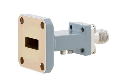 WR-42 UG-597/U Square Cover Flange to End Launch 2.92mm Female Waveguide to Coax Adapter Operating from 18 GHz to 26.5 GHz