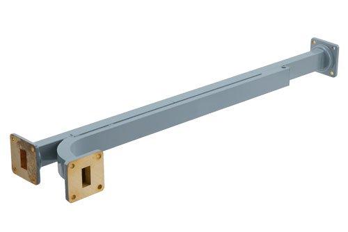 WR-62 10 dB Directional Waveguide Broadwall Coupler, UG-419/U Square Cover Flange, E-Plane Coupled Port, 12.4 GHz to 18 GHz