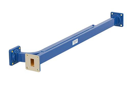 WR-62 30 dB Directional Waveguide Broadwall Coupler, UG-419/U Square Cover Flange, E-Plane Coupled Port, 12.4 GHz to 18 GHz