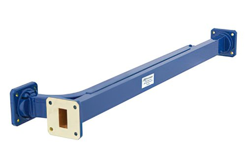 WR-75 20 dB Directional Waveguide Broadwall Coupler, Square Cover Flange, E-Plane Coupled Port, 10 GHz to 15 GHz