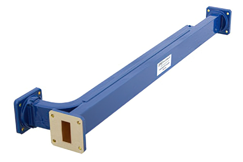 WR-112 30 dB Directional Waveguide Broadwall Coupler, UG-51/U Square Cover Flange, E-Plane Coupled Port, 7.05 GHz to 10 GHz