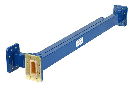 WR-112 10 dB Directional Waveguide Broadwall Coupler, CPR-112G Grooved Flange, E-Plane Coupled Port, 7.05 GHz to 10 GHz