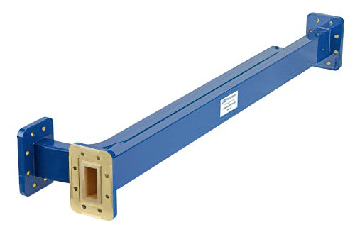 WR-112 30 dB Directional Waveguide Broadwall Coupler, CPR-112G Grooved Flange, E-Plane Coupled Port, 7.05 GHz to 10 GHz