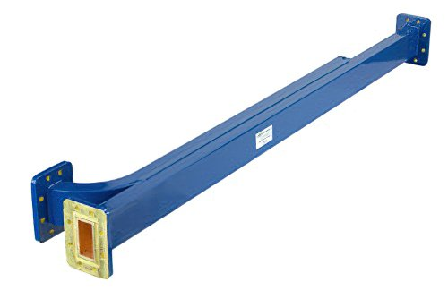 WR-137 10 dB Directional Waveguide Broadwall Coupler, CPR-137G Grooved Flange, E-Plane Coupled Port, 5.85 GHz to 8.2 GHz