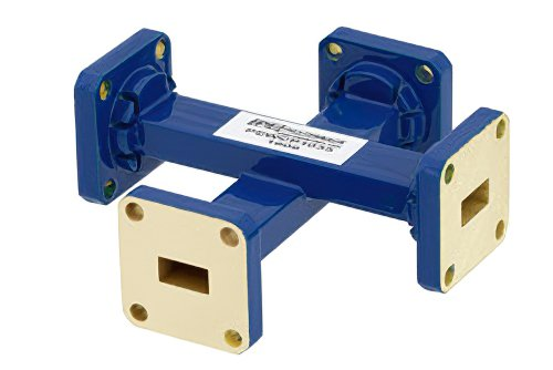 WR-34 20 dB Waveguide Crossguide Coupler, UG-1530/U Square Cover Flange, 22 GHz to 33 GHz