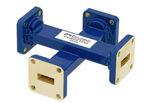 WR-42 Waveguide 30 dB Crossguide Coupler, UG-595/U Square Cover Flange, 18 GHz to 26.5 GHz, Bronze
