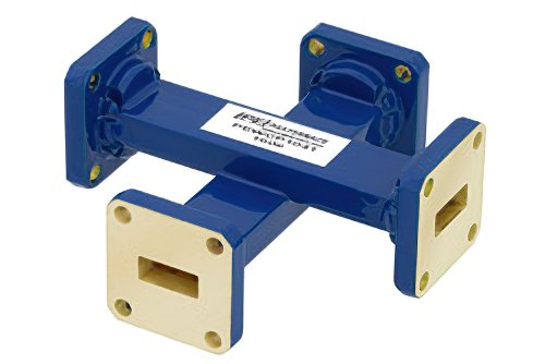 WR-42 Waveguide 40 dB Crossguide Coupler, UG-595/U Square Cover Flange, 18 GHz to 26.5 GHz, Bronze