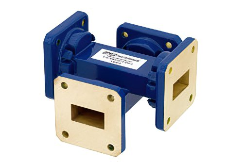 WR-75 Waveguide 20 dB Crossguide Coupler, Square Cover Flange, 10 GHz to 15 GHz, Bronze