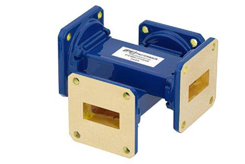 WR-90 Waveguide 30 dB Crossguide Coupler, UG-39/U Square Cover Flange, 8.2 GHz to 12.4 GHz, Bronze