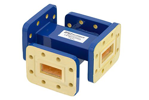 WR-90 30 dB Waveguide Crossguide Coupler, CPR-90G Grooved Flange, 8.2 GHz to 12.4 GHz