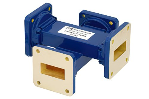 WR-112 Waveguide 30 dB Crossguide Coupler, UG-51/U Square Cover Flange, 7.05 GHz to 10 GHz, Bronze