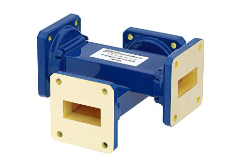 WR-112 Waveguide 50 dB Crossguide Coupler, UG-51/U Square Cover Flange, 7.05 GHz to 10 GHz, Bronze