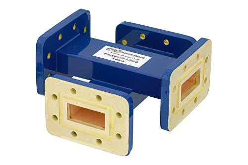 WR-112 Waveguide 40 dB Crossguide Coupler, CPR-112G Flange, 7.05 GHz to 10 GHz, Bronze