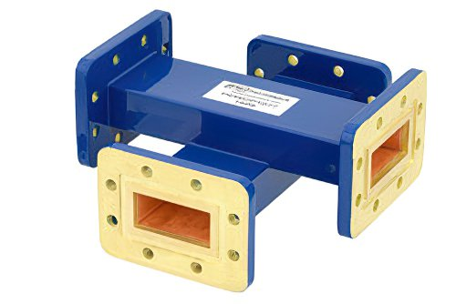 WR-137 Waveguide 40 dB Crossguide Coupler, CPR-137G Flange, 5.85 GHz to 8.2 GHz, Bronze