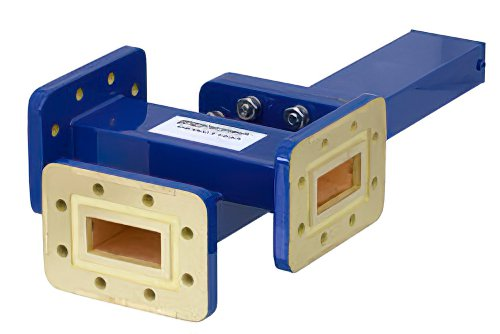 WR-112 Waveguide 30 dB Crossguide Coupler, 3 Port CPR-112G Flange, 7.05 GHz to 10 GHz, Bronze