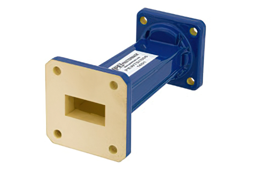 WR-75 to WR-62 Waveguide Transition 3 Inch Length, Square Cover Flange to UG-1665/U Square Cover Flange