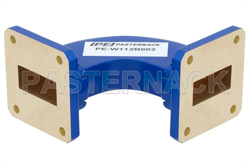 WR-112 Commercial Grade Waveguide H-Bend with UG-51/U Flange Operating from 7.05 GHz to 10 GHz
