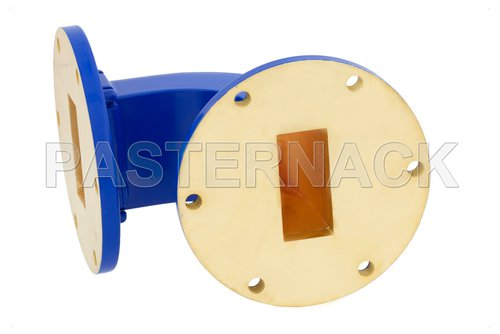 WR-137 Commercial Grade Waveguide E-Bend with UG-344/U Flange Operating from 5.85 GHz to 8.2 GHz