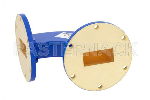 WR-137 Commercial Grade Waveguide H-Bend with UG-344/U Flange Operating from 5.85 GHz to 8.2 GHz