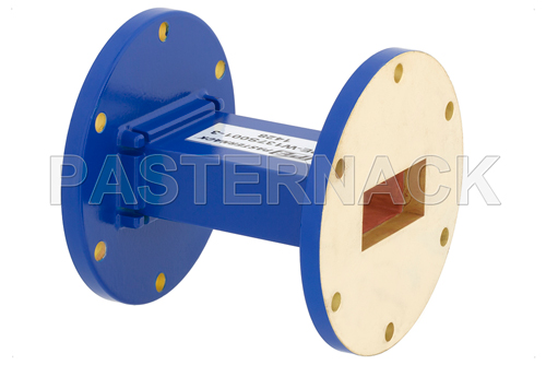 WR-137 Commercial Grade Straight Waveguide Section 3 Inch Length with UG-344/U Flange Operating from 5.85 GHz to 8.2 GHz