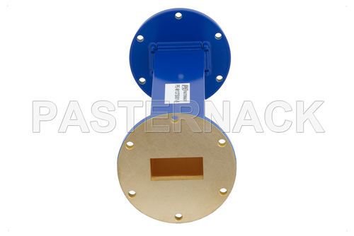 WR-137 Commercial Grade Straight Waveguide Section 9 Inch Length with UG-344/U Flange Operating from 5.85 GHz to 8.2 GHz