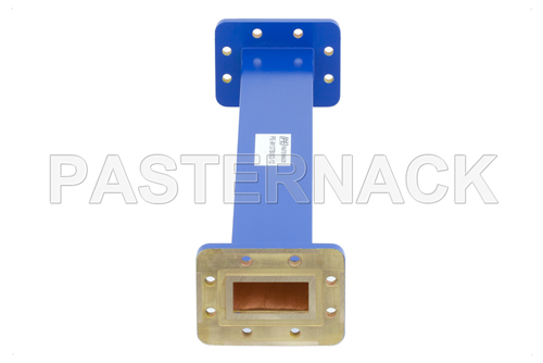 WR-137 Commercial Grade Straight Waveguide Section 12 Inch Length with CPR-137G Flange Operating from 5.85 GHz to 8.2 GHz