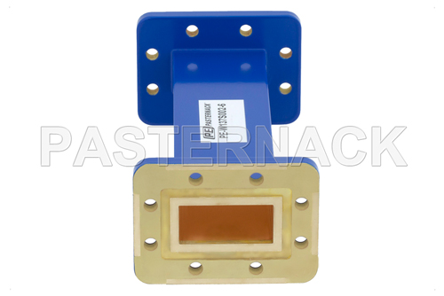 WR-137 Commercial Grade Straight Waveguide Section 6 Inch Length with CPR-137G Flange Operating from 5.85 GHz to 8.2 GHz