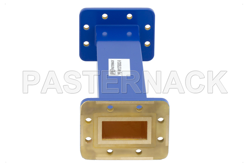 WR-137 Commercial Grade Straight Waveguide Section 9 Inch Length with CPR-137G Flange Operating from 5.85 GHz to 8.2 GHz