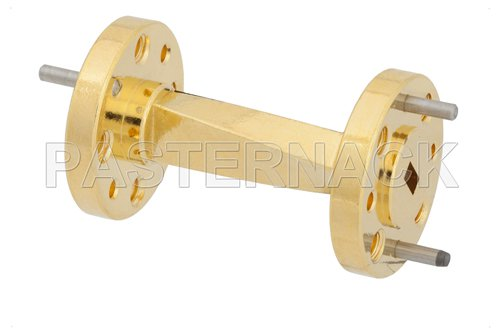 WR-15 45 Degree Right-hand Waveguide Twist With a UG-385/U Flange Operating From 50 GHz to 75 GHz