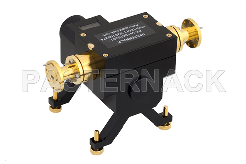 0 to 50 dB Waveguide Direct Read Attenuator, WR-19, From 40 GHz to 60 GHz, UG-383/U-Mod Flange