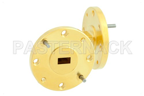 WR-22 Instrumentation Grade Waveguide H-Bend with UG-383/U Flange Operating from 33 GHz to 50 GHz