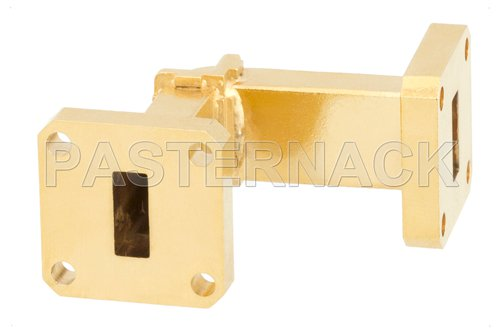 WR-42 Instrumentation Grade Waveguide E-Bend with UG-595/U Flange Operating from 18 GHz to 26.5 GHz