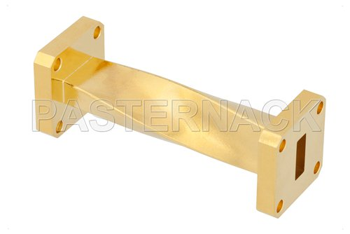 WR-42 90 Degree Waveguide Twist With a UG-595/U Flange Operating From 18 GHz to 26.5 GHz