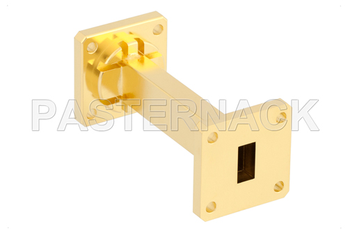 WR-51 Instrumentation Grade Straight Waveguide Section 3 Inch Length with UBR180 Flange Operating from 15 GHz to 22 GHz