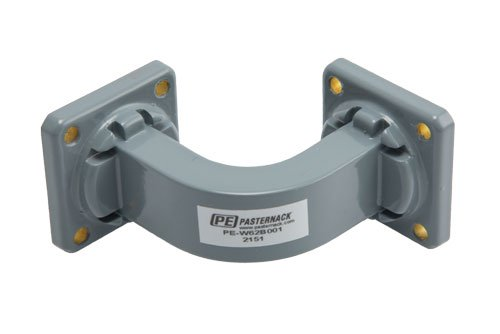 WR-62 Commercial Grade Waveguide E-Bend with UG-419/U Flange Operating from 12.4 GHz to 18 GHz