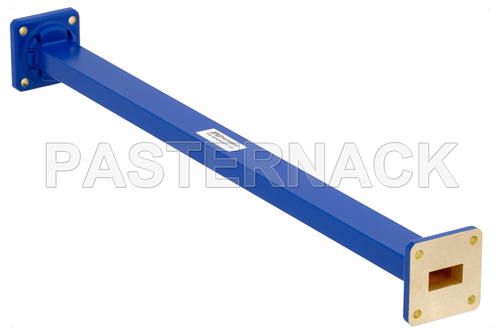 WR-62 Commercial Grade Straight Waveguide Section 12 Inch Length with UG-419/U Flange Operating from 12.4 GHz to 18 GHz