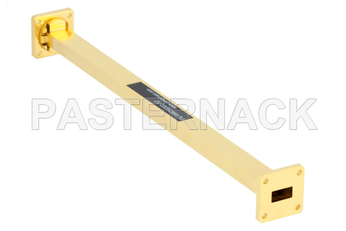 WR-62 Instrumentation Grade Straight Waveguide Section 12 Inch Length with UG-419/U Flange Operating from 12.4 GHz to 18 GHz
