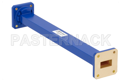 WR-75 Commercial Grade Straight Waveguide Section 9 Inch Length with UBR120 Flange Operating from 10 GHz to 15 GHz