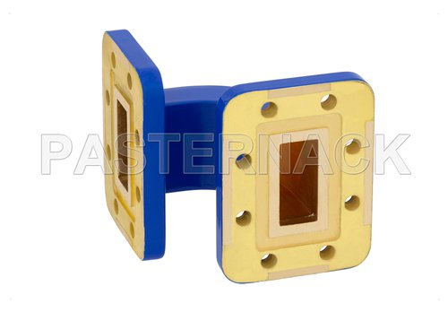 WR-90 Commercial Grade Waveguide E-Bend with CPR-90G Flange Operating from 8.2 GHz to 12.4 GHz