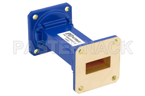 WR-90 Commercial Grade Straight Waveguide Section 3 Inch Length with UG-39/U Flange Operating from 8.2 GHz to 12.4 GHz