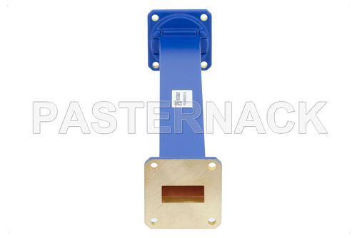 WR-90 Commercial Grade Straight Waveguide Section 9 Inch Length with UG-39/U Flange Operating from 8.2 GHz to 12.4 GHz